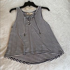 Super Cute Striped Tank Top with Anchors